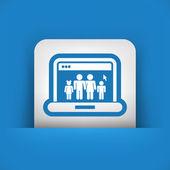 Web family icon — Stock Vector