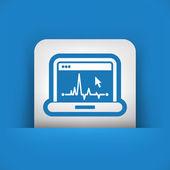 EKG on computer screen — Stock Vector