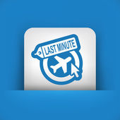 Last minute link icon — Stock Vector