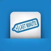 Sista minuten etikett — Stockvektor