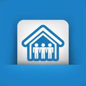 Real estate icon — Stock Vector