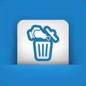 Ícone do lixo alimentar — Vetor de Stock