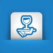 Wine list icon — Stock Vector