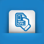 Smartphone contract icon — Stock Vector