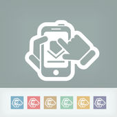 Pobierz za darmo icon smartphone — Wektor stockowy