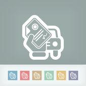 Car document — Stock Vector