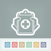 Medical records icon — Stock Vector