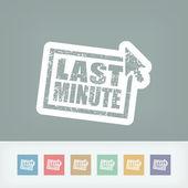"""Last minute"" web grunge cartel — Vector de stock"