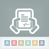 Document signature icon — Stock Vector