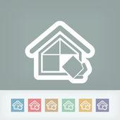 Simbolo di società di costruzione — Vettoriale Stock