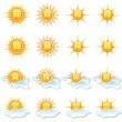 Sun Icons Collection — Stock Photo