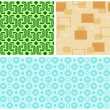 Stock Vector: Seamless Retro Patterns