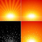 Star Burst Set — Stock Vector
