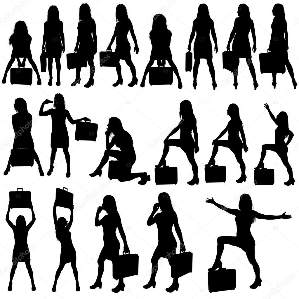 Business Woman Silhouettes — Stock Vector © dero2010 #12479351