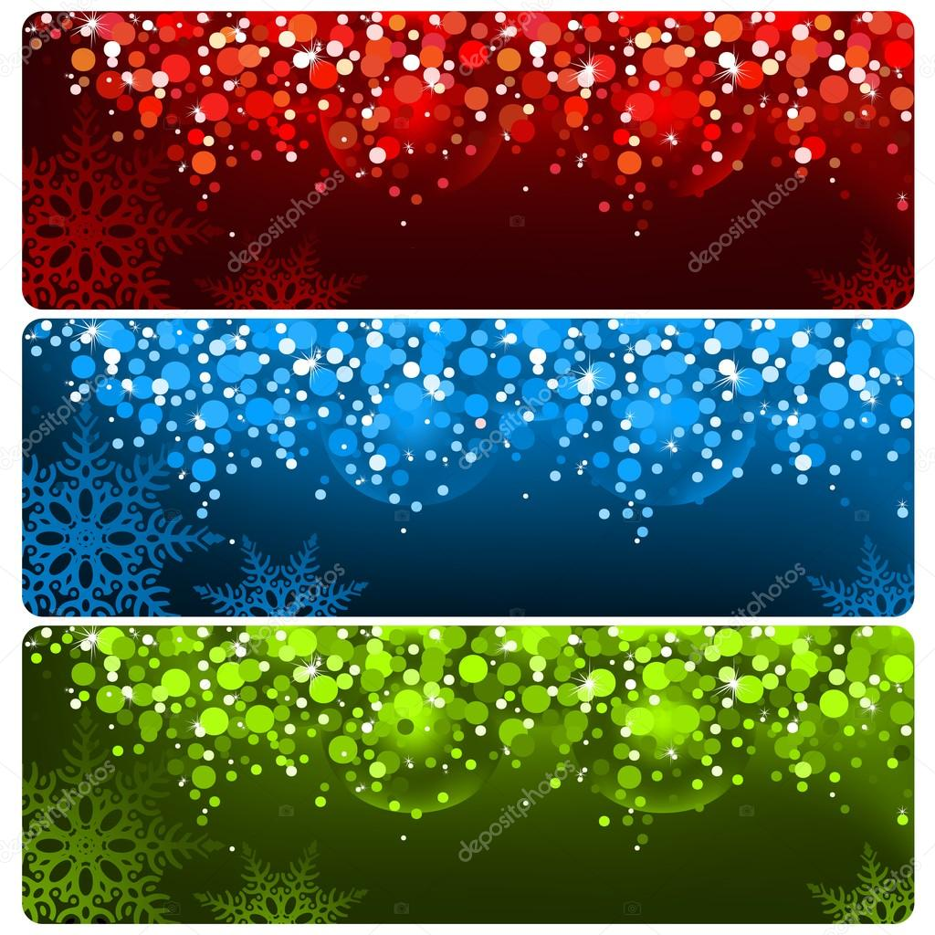 Abstract Christmas Banner - Xmas Set, Vector Illustration  Stock Vector #12715869