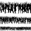 Crowd Silhouettes - Stock Vector