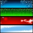 Holiday Banners — Stock Vector