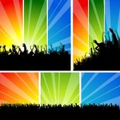 Crowd at the Concert Set — Stock Vector