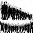 Crowd Silhouettes — Stock Vector #12886834