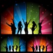 Dance Party - Night Club Life — Vector de stock