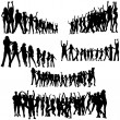 Crowd Silhouettes — Stock Vector #13266674