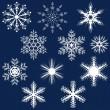 sneeuwvlok reeks — Stockvector