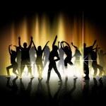 danza y espectáculo de luz — Vector de stock