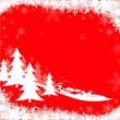 Royalty-Free Stock Vector Image: Red Christmas Greeting