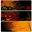 Royalty-Free Stock Vector Image: Halloween Banner Set