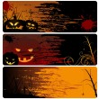 Halloween Banner Set — Stock Vector #13519664