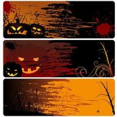 Halloween Banner Set — Stock Vector
