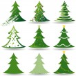 Christmas Tree Set — Stock Vector #13683679