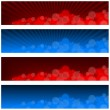 Blurry Banners — Stock Vector