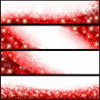 Red Christmas Banners — Stock Vector #13895767