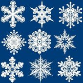Снежинка установлена — Cтоковый вектор