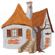 Fairy Tale Cottage — Stockvectorbeeld