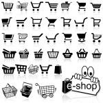 alışveriş sepeti simgesini — Stok Vektör