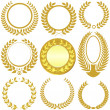 Laurel Wreath Set — Image vectorielle