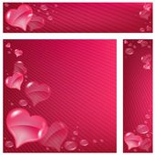 Hearts Banner — Stock Vector
