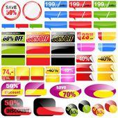 Tags vendas de varejo — Vetor de Stock