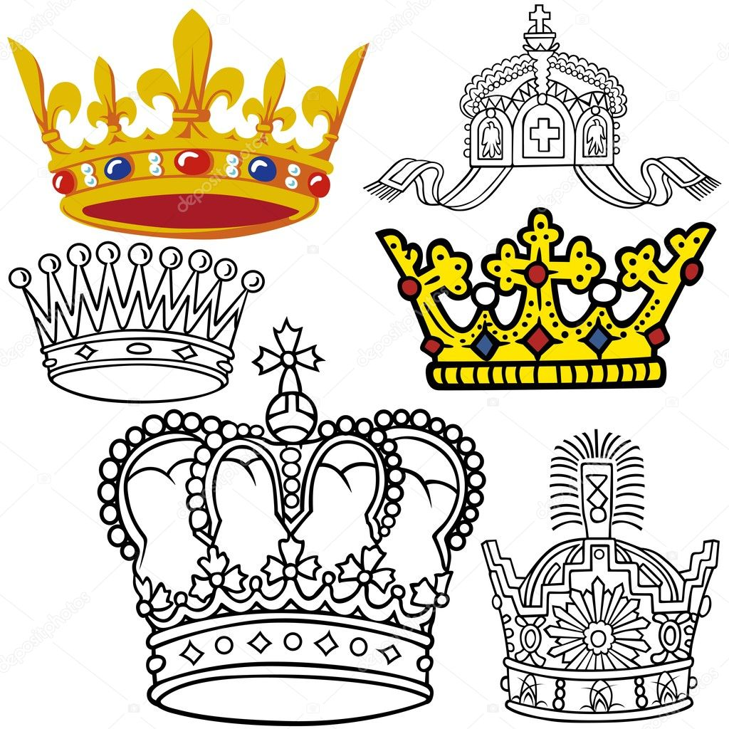 Royal princess coloring pages - Royal Crowns Princess Coloring Pages