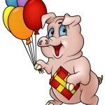 猪用的礼物 — 图库矢量图片 #3271830