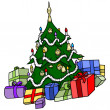 Christmas Tree with Presents — Stock Vector #33570893