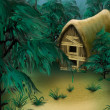 Forest Cottage — Stock Photo