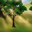 Grove And Sunbeams — Stock Photo
