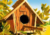 Wooden Bird House — Fotografia Stock