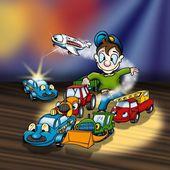 Cartoon Toys — Stock Photo