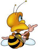 Sitting Honeybee — Stock Vector