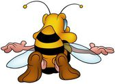Flying Honeybee — Stock Vector