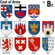 Coat Of Arms Collection — Stock Vector
